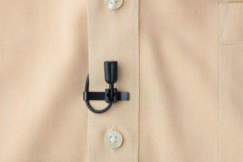 CO2-8WL lavalier mic on shirt
