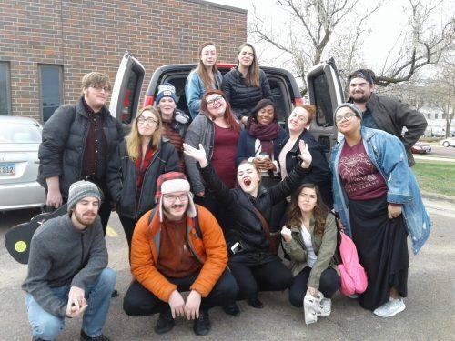 University of South Dakota theatre crew