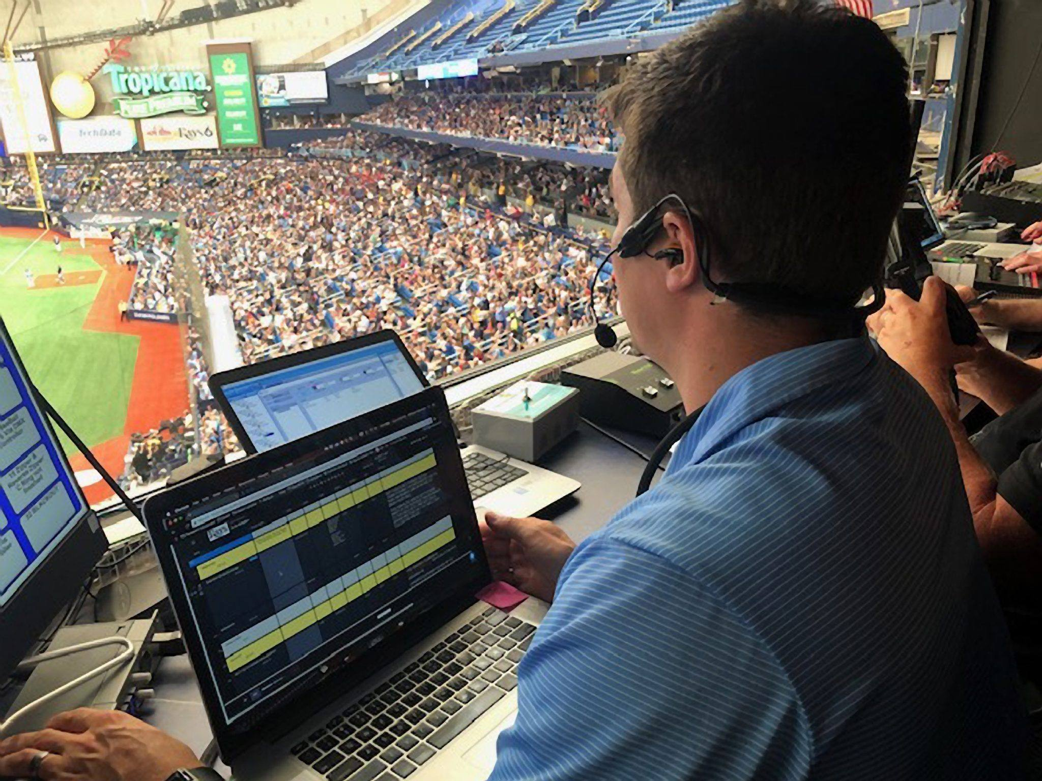 Michael Weinman at the Tampa Bay Rays wearing CM-i5 headset
