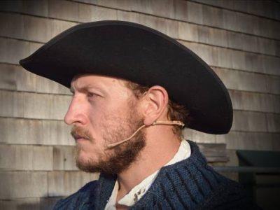 Lost Colony Blake Burgess wears CO-2 headset